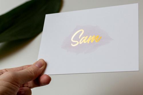 Geboortekaartje op maat - Sam